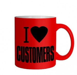 I love customers mug