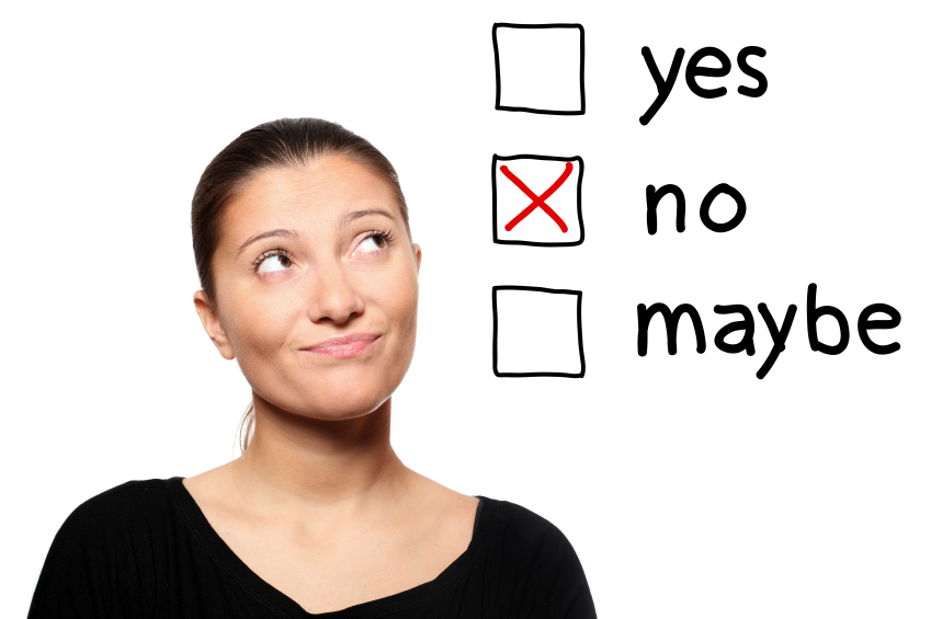 Women considering yes, no, maybe options
