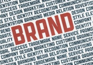 20846299 - typography illustration poster of brand management words